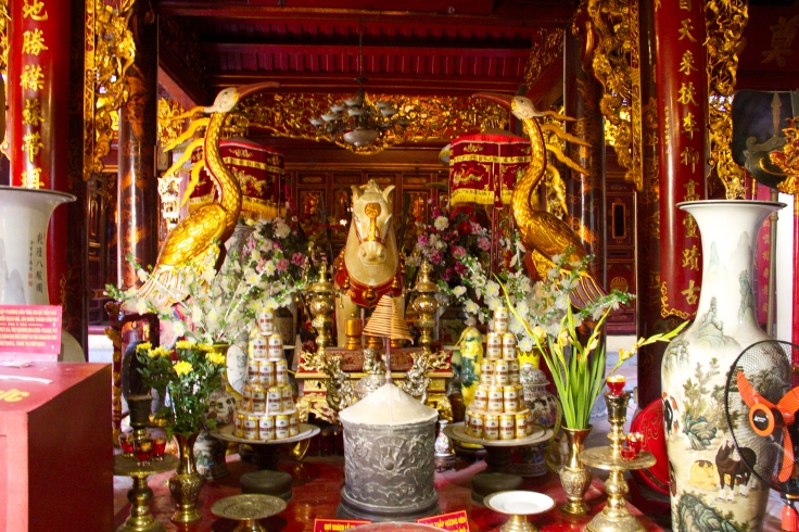 Offerings in the temple.
