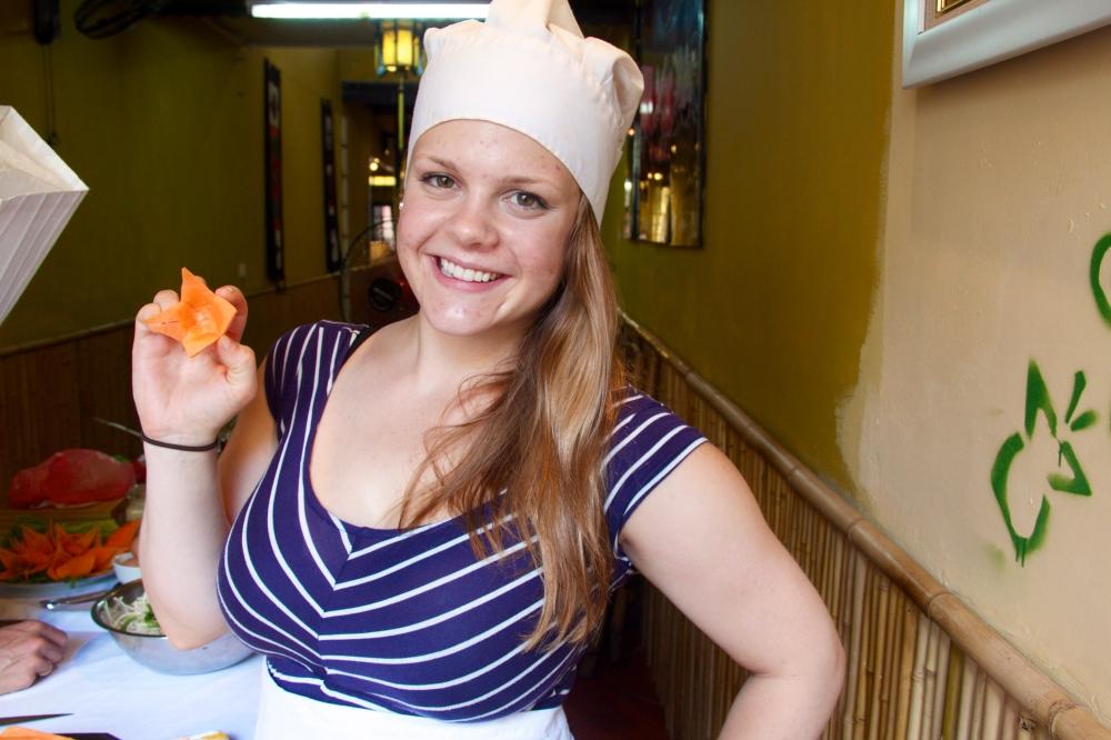 My chunky carrot flower garnish.